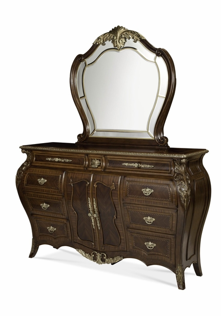 Michael Amini Imperial Court Traditional Radiant Chestnut Dresser by AICO