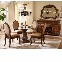 Michael Amini Lavelle Melange Finish Round Table Dining Room Set AICO