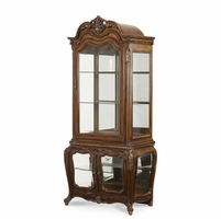 Michael Amini Lavelle Melange Finish Sturdy Glass Curio Cabinet by AICO