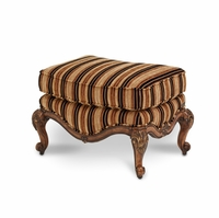 Michael Amini Lavelle Melange Finish Traditional Bergere Chair Ottoman by AICO