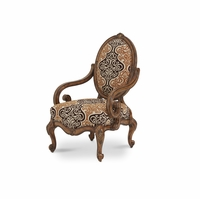 Michael Amini Lavelle Melange Finish Traditional Oval Back Wood Chair by AICO