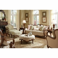 Michael Amini Lavelle Melange Luxury Wood Trim Sofa Set by AICO