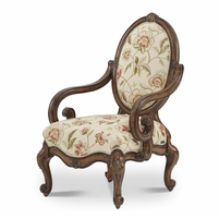 Michael Amini Lavelle Melange Traditional Oval Back Wood Chair by AICO
