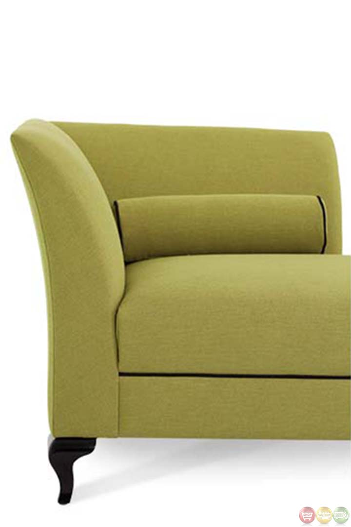 Michael amini after eight green fabric upholstered chaise for Aico chaise lounge