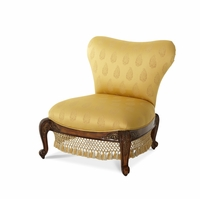 Michael Amini Oppulente Sienna Spice Finish Sweetheart Back Chair by AICO