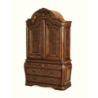Michael Amini Oppulente Two Doored Ash Burls Sienna Spice Armoire by AICO