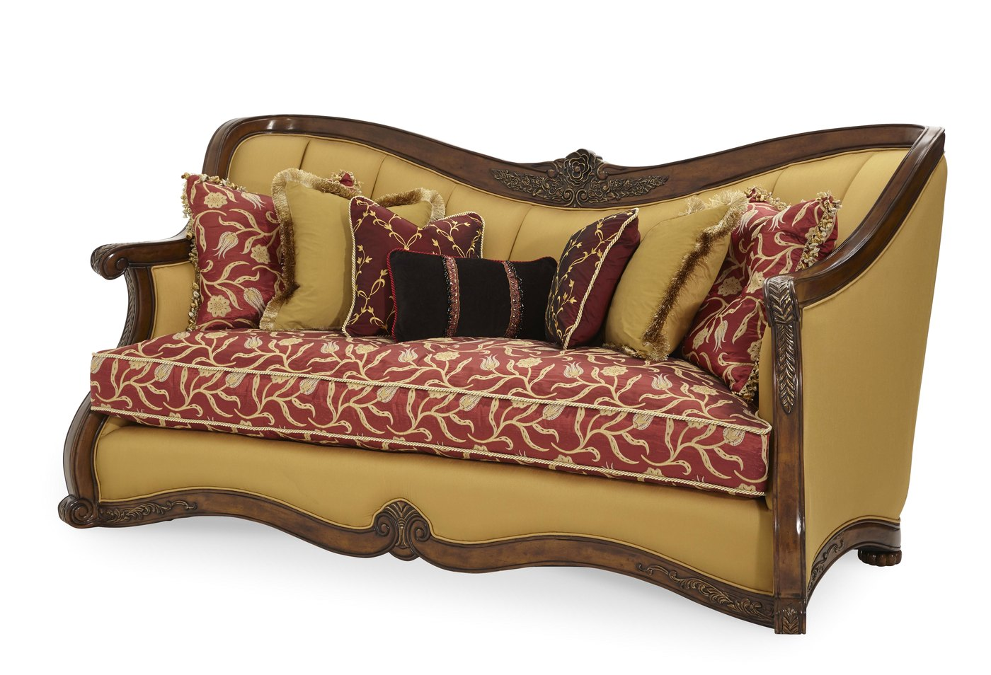 Michael Amini Oppulente Upholstered Solid Wood Frame Sofa
