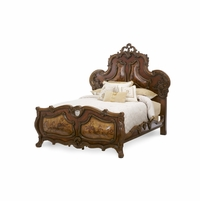 Michael Amini Palais Royale Rococo Cognac Finish Queen Panel Bed by AICO