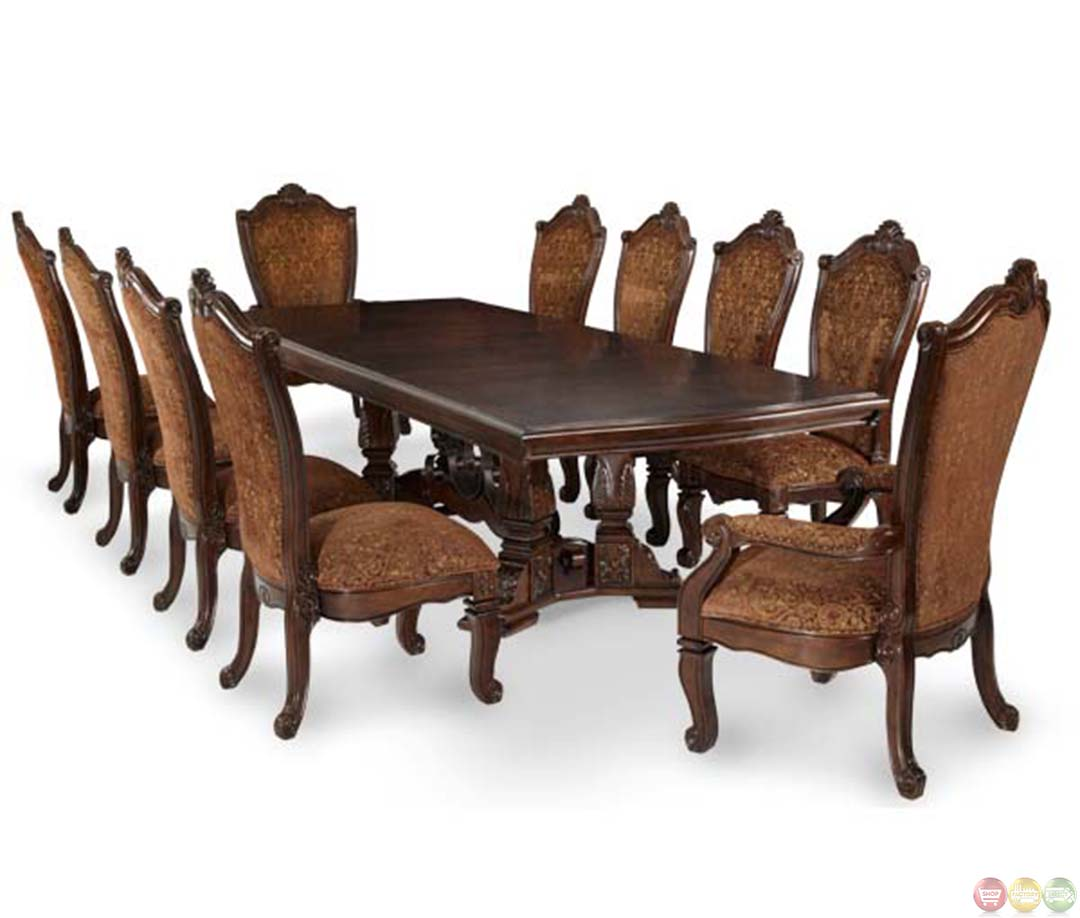 Michael amini rectangular traditional windsor court dining table by aico for Aico windsor court living room