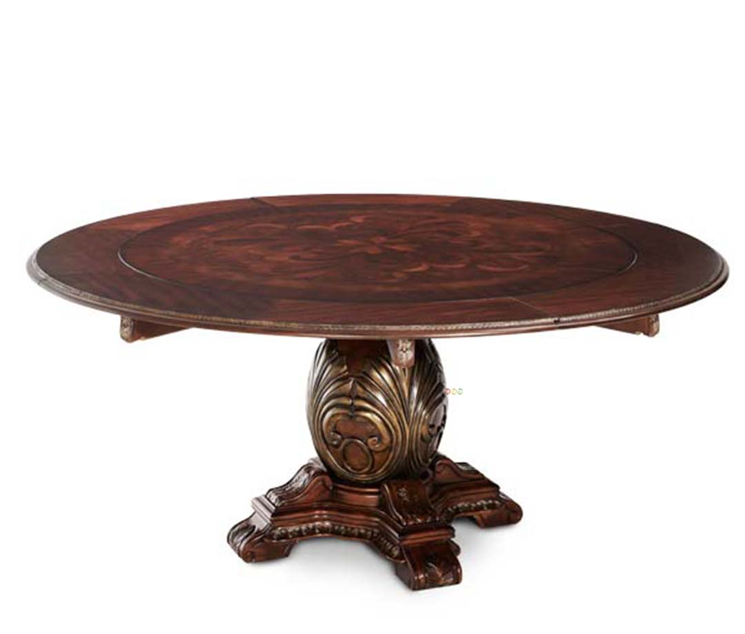 Large round dining table traditional round dining table for Traditional dining table
