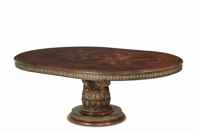 Michael Amini Round Oval Dining Table Villa Valencia Traditional By AICO - Traditional oval dining table