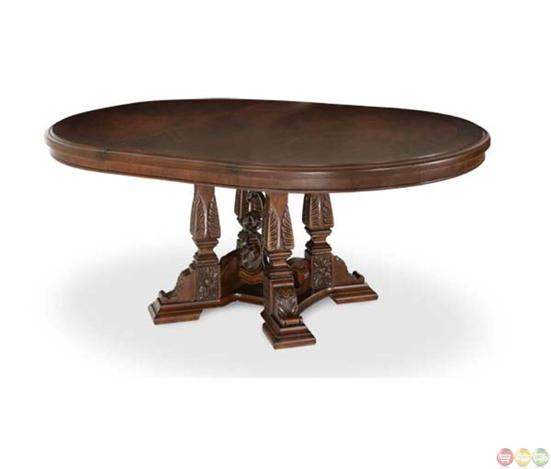Michael amini round windsor court traditional style dining for Styling a dining table