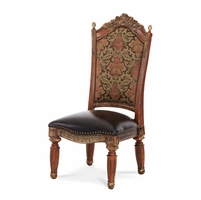 Michael Amini Set of 2 Traditional Style Villa Valencia Side Chairs by AICO