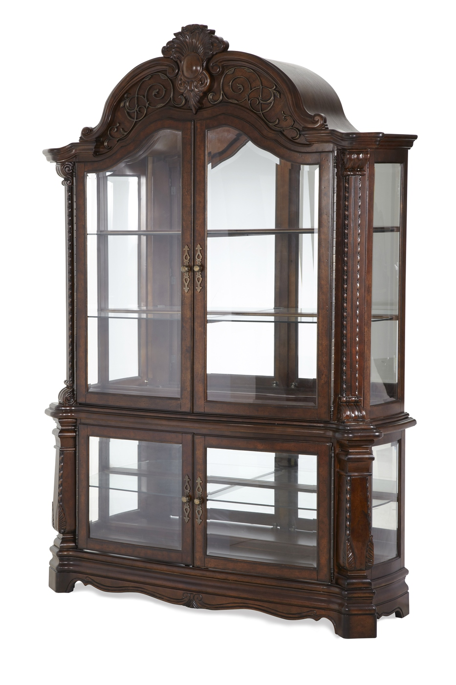 michael amini traditional style windsor court curio. Black Bedroom Furniture Sets. Home Design Ideas