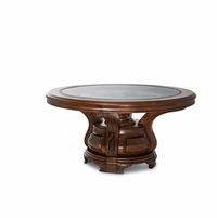 Michael Amini Tuscano Melange Carved Leaf Motifs Round Dining Table by AICO