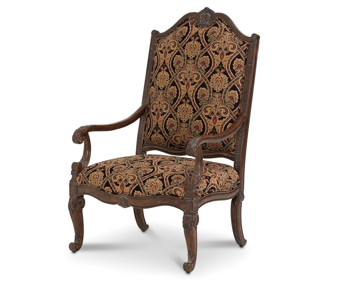 michael amini victoria palace fabric upholstery wood chair by aico. Black Bedroom Furniture Sets. Home Design Ideas