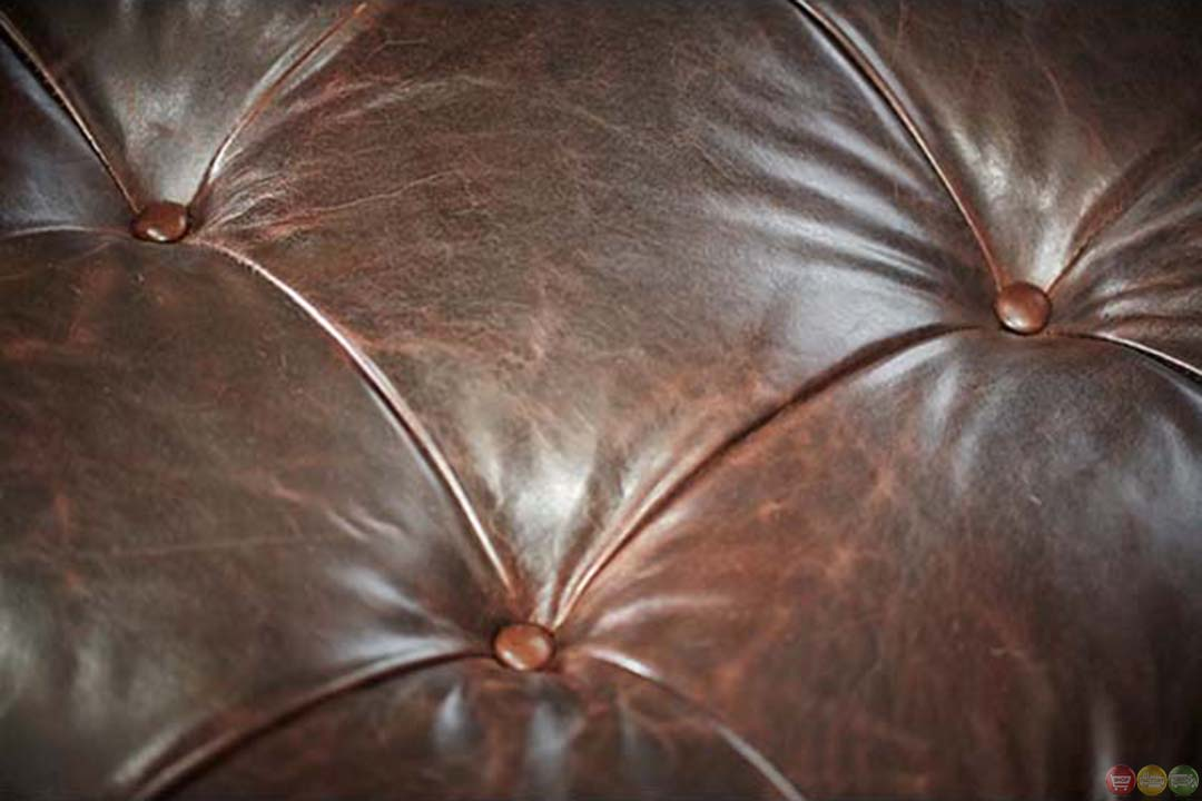 Michael amini victoria palace leather upholstery armless for Aico trevi leather armless chaise in brown