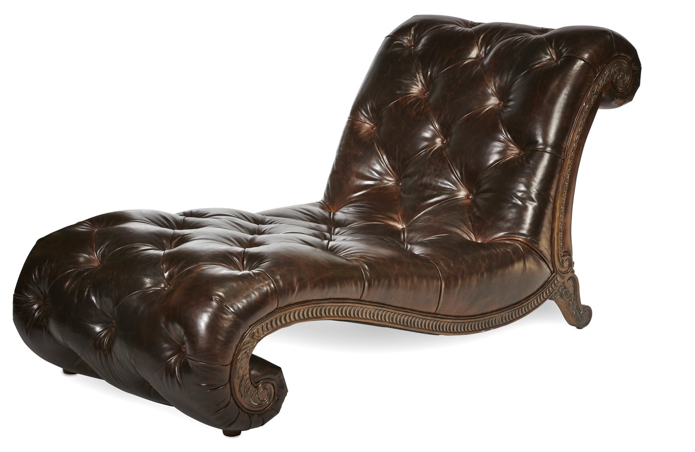 Michael Amini Victoria Palace Leather Upholstery Armless