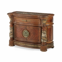 Michael Amini Villa Valencia Bachelors Chest with Drawer in Classic Chestnut Finish