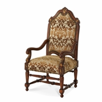 Michael Amini Villa Valencia Chestnut Traditional High Back Wood Chair by AICO