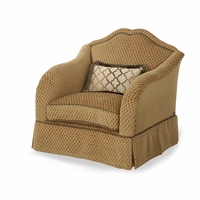 Michael Amini Villa Valencia Classic Chestnut Traditional Club Chair AICO by AICO