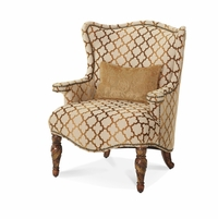 Michael Amini Villa Valencia Classic Chestnut Traditional Wing Chair by AICO