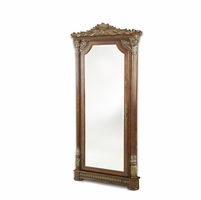 Michael Amini Villa Valencia Floor Length Accent Mirror with Hidden Storage by AICO