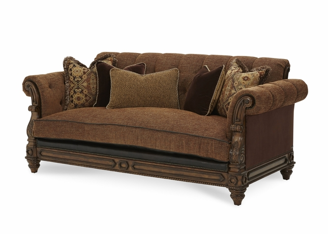 Terrific Michael Amini Vizcaya Genuine Leather And Fabric Upholstery Home Interior And Landscaping Ologienasavecom