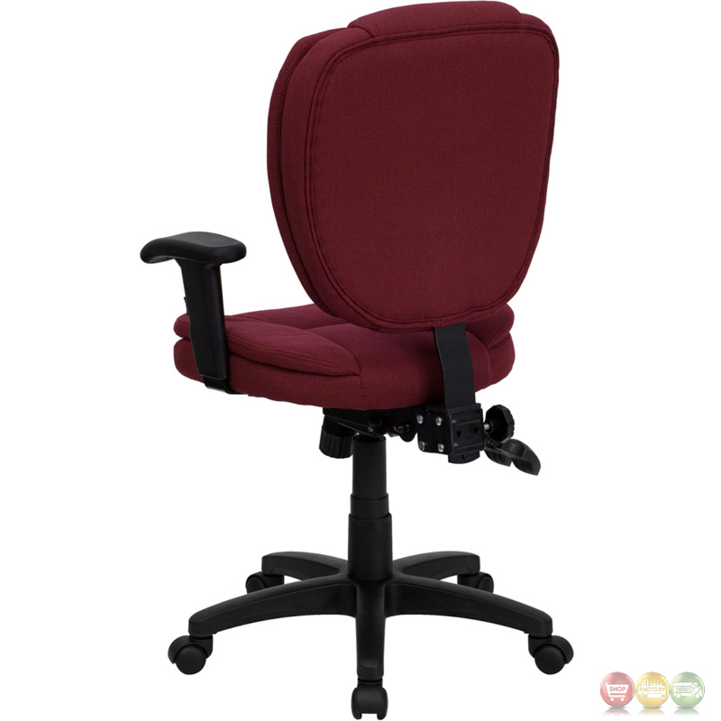Mid back burgundy fabric multi functional ergonomic task chair with arms go 930f by arms gg - Ergo kids task chair ...