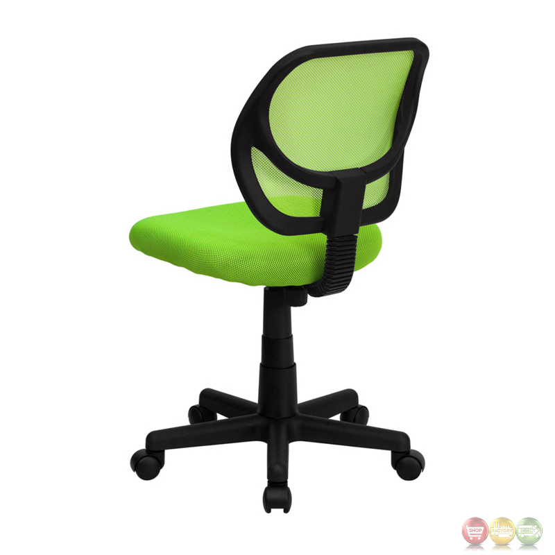 Mid Back Green Mesh Task Chair And Computer Chair WA 3074