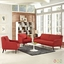 Mid-Century Modern Verve 3-pc Sofa & Armchairs Set, Atomic Red