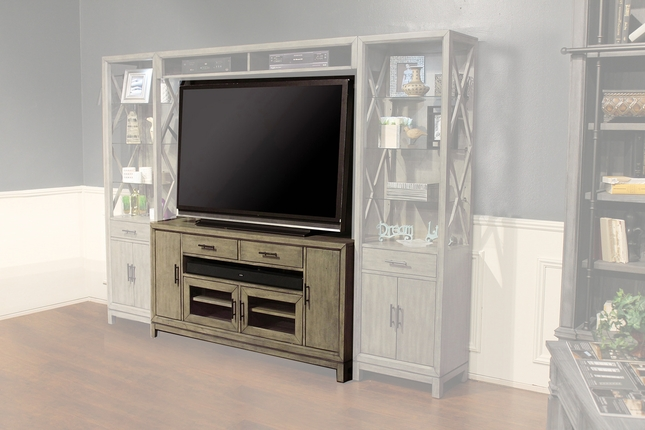 Midtown Contemporary Entertainment 63 in. TV Console