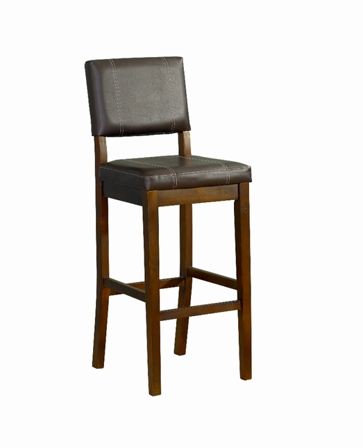 Milano Walnut Finish Wooden Bar Stool
