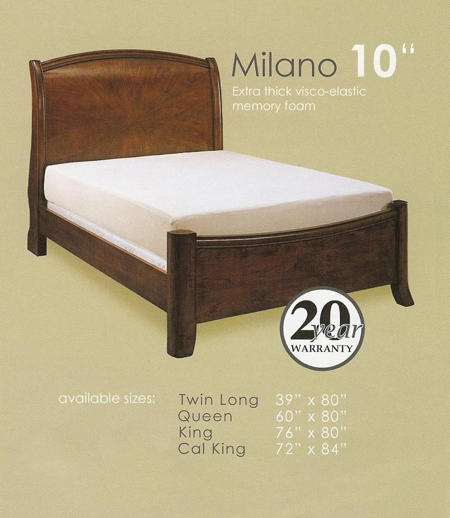 Milano comfort memory foam king size mattress w jacquard cover Memory foam king size mattress