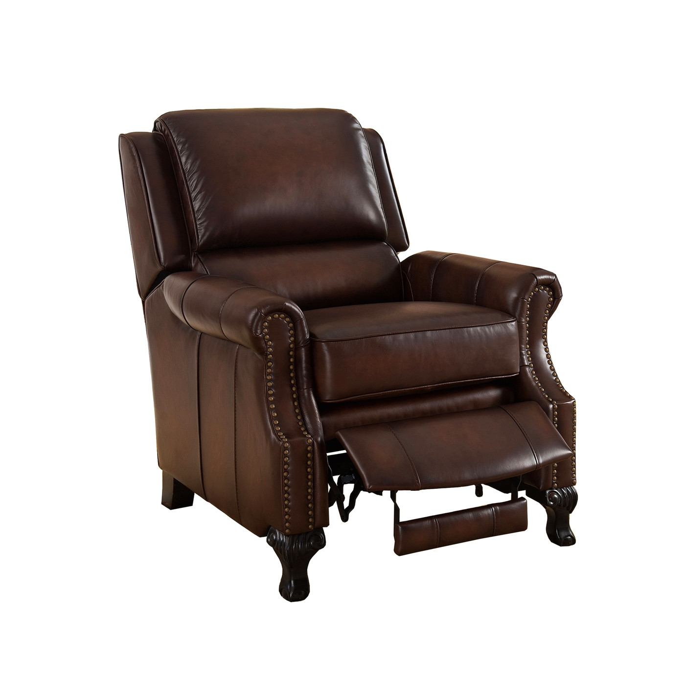 Milari Traditional Genuine Real Brown Leather Pushback