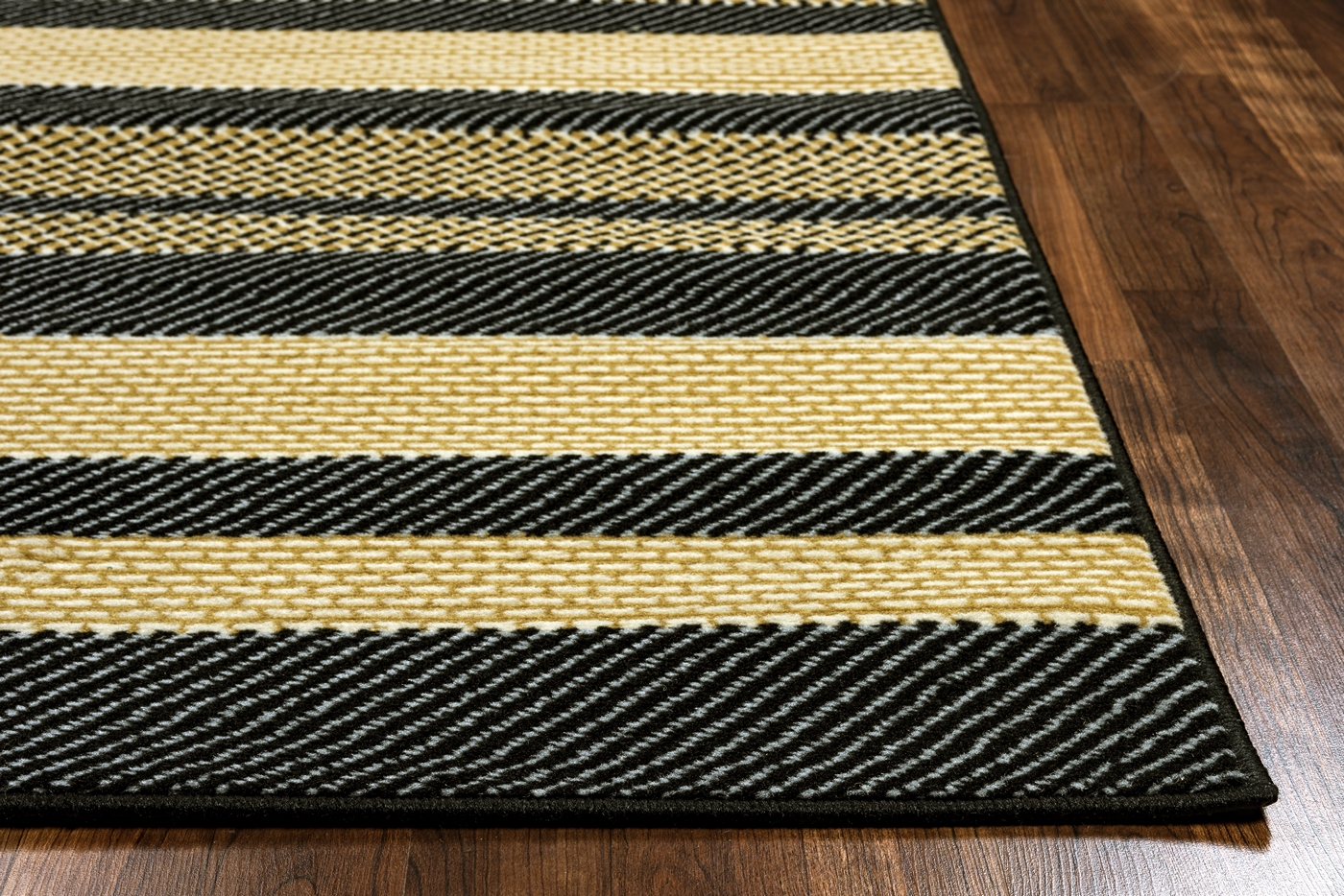 millington asymmetric stripe pattern area rug in black. Black Bedroom Furniture Sets. Home Design Ideas