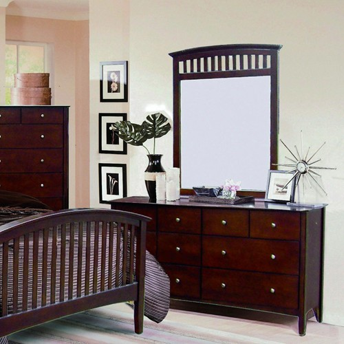 Mission Style Bedroom Set Dark Brown Furniture Set