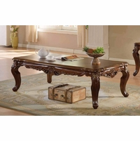 Modena Cherry Coffee Table With Ornate Hard-carved Design