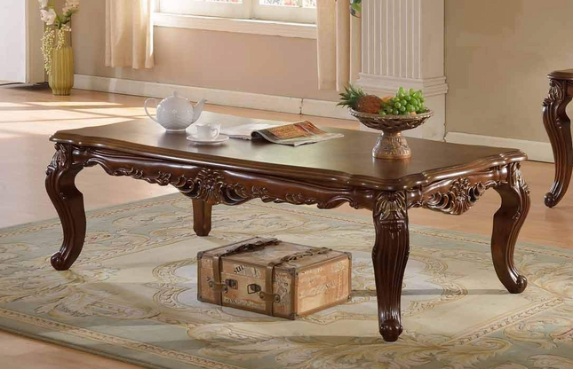 modena cherry coffee table with ornate hard carved design. Black Bedroom Furniture Sets. Home Design Ideas