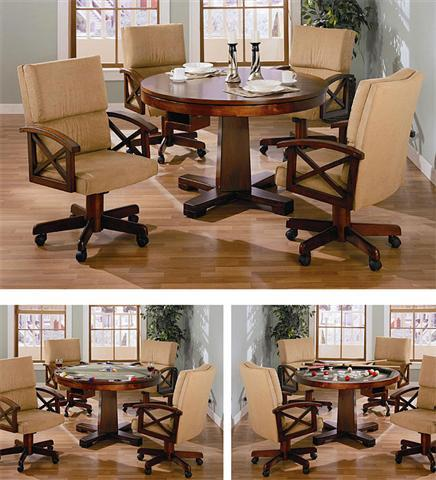 Modern Game Table Set Matching Chairs Dining Top