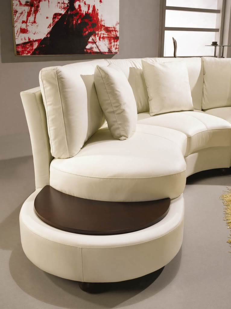 Vig for Curved sectional sofa with ottoman