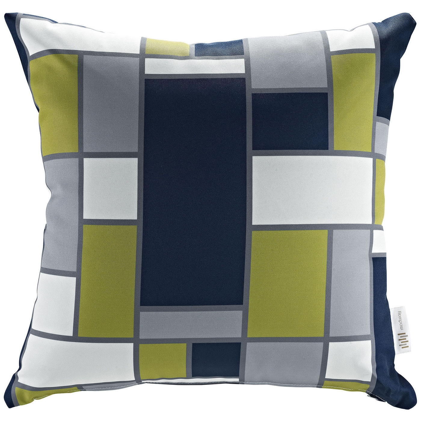 Modway Modern Outdoor Patio Pillow W/patterned Weather Resistant Fabric, Rectangle
