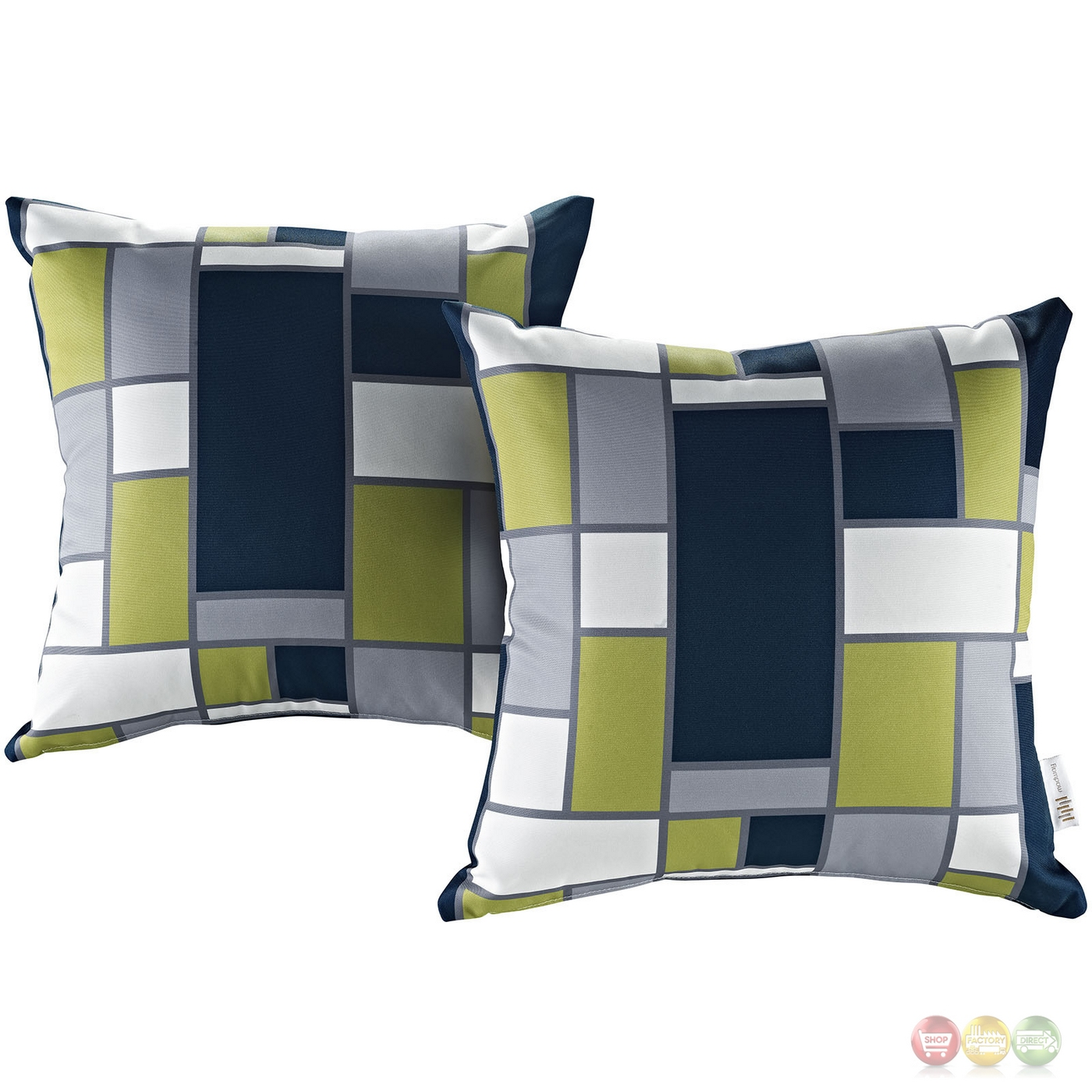 Modern Outdoor Pillow : Modway Modern Outdoor Patio Pillow W/patterned Weather Resistant Fabric, Rectangle
