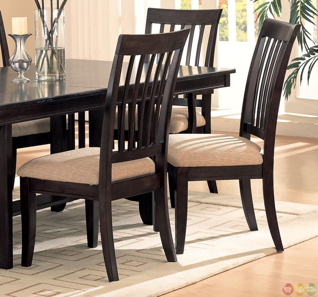 Monaco cappuccino casual dining room table and chairs set for Casual dining room tables