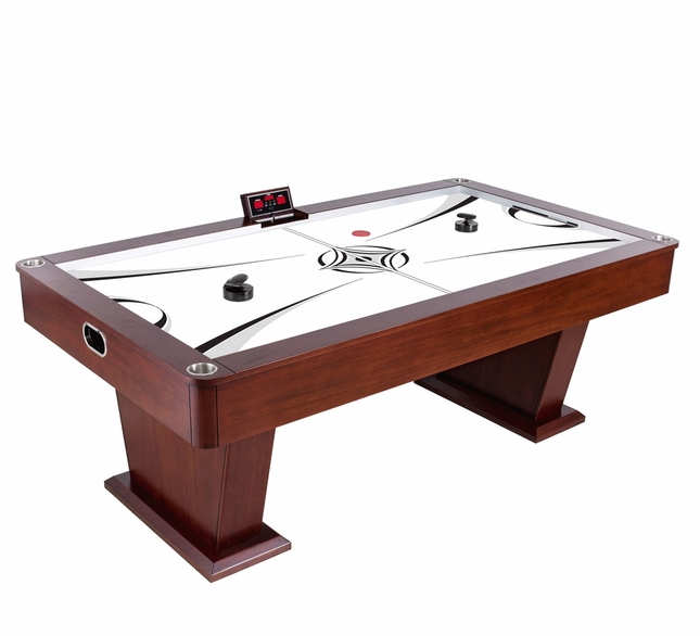 Charmant Monarch 7.5 Ft Dark Wood Air Hockey Table With Electronic Game Controller