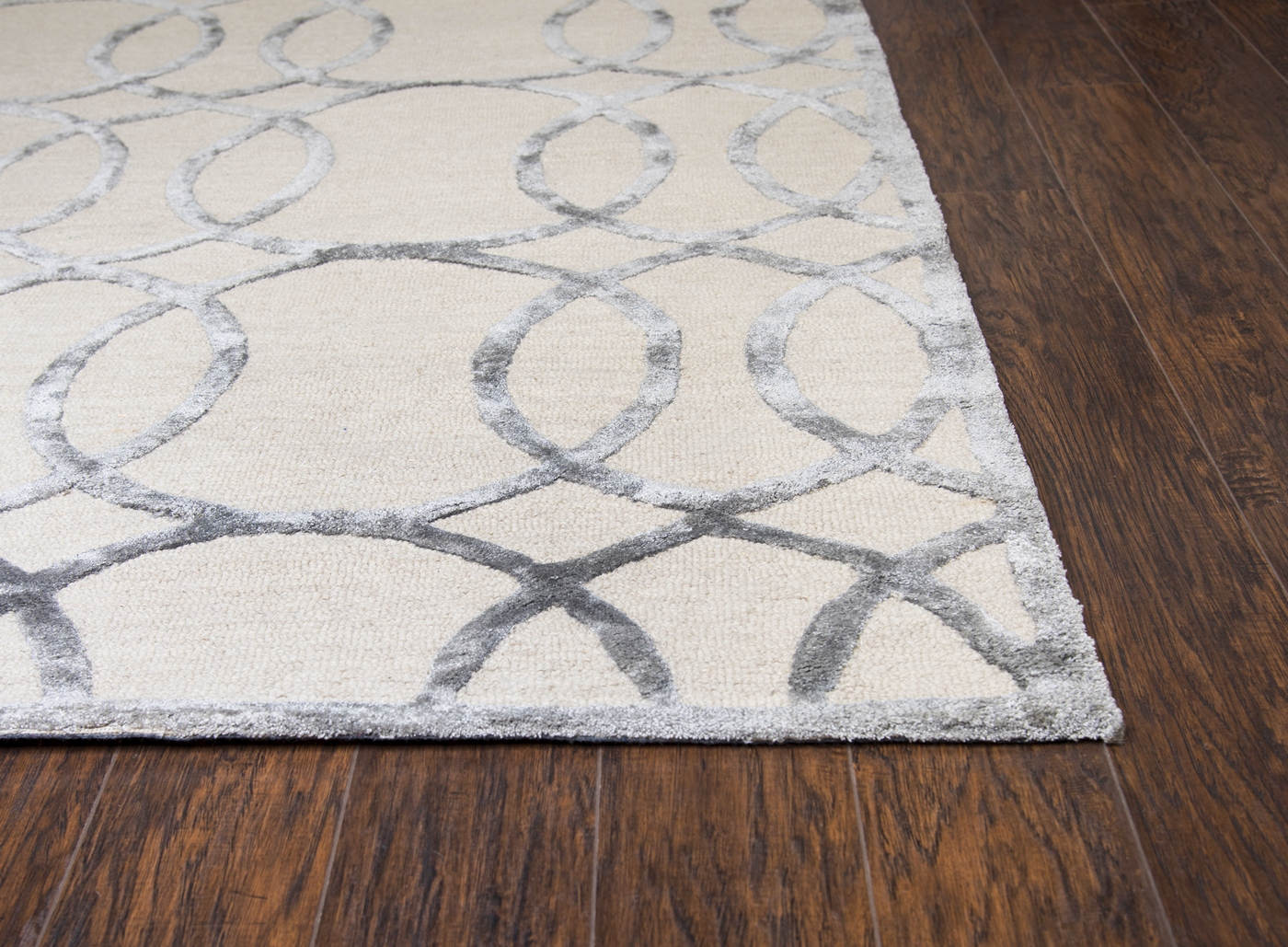 Monroe Basic Trellis Wool Area Rug In Cream Amp Gray 9 X 12