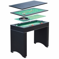 Monte Carlo 4-in-1 Casino Game Table In Black, Accessories Included