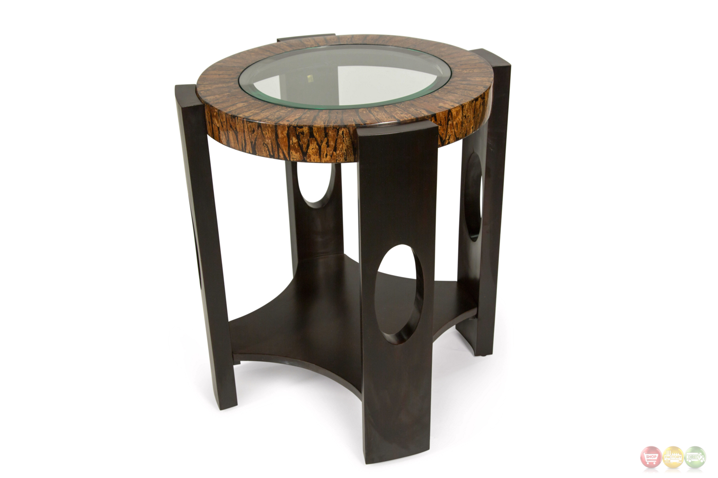 Montecristo Transitional Round End Table With Stone And