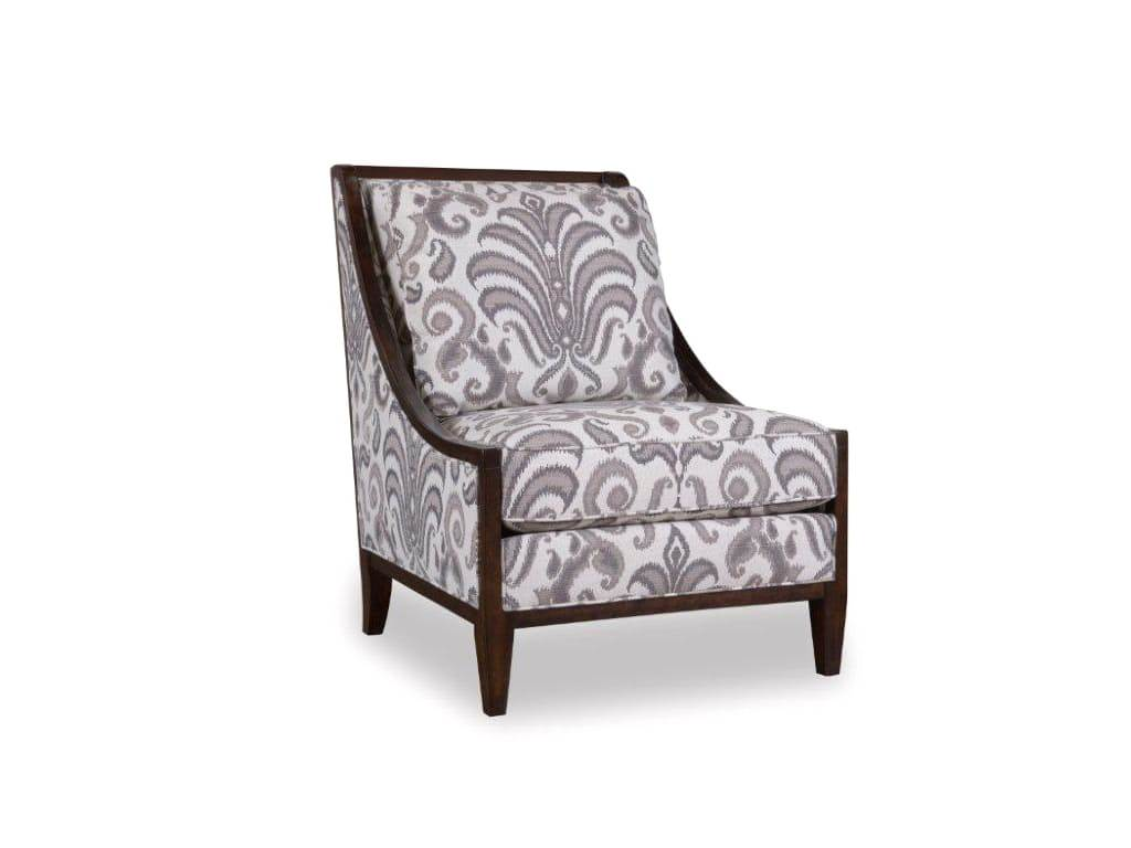 Morgan Charcoal Transitional Wood Frame Accent Chair