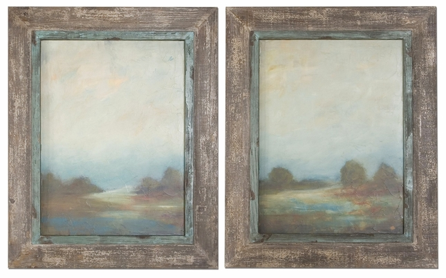 Morning Vistas Set of 2 Framed Landscape Art 51076
